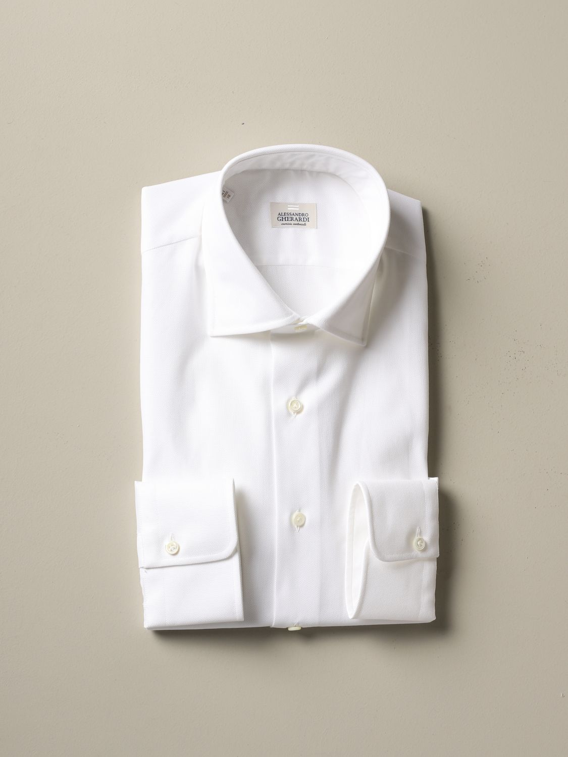 Shirt Alessandro Gherardi: Alessandro Gherardi regular fit shirt white 1