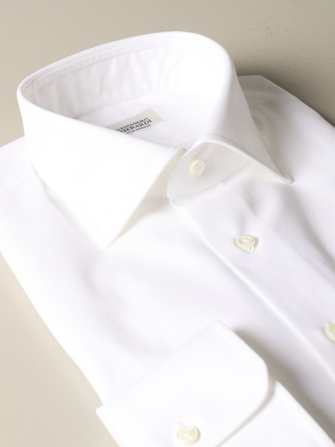 Shirt Alessandro Gherardi: Alessandro Gherardi regular fit shirt white 2