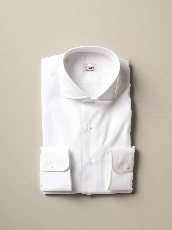 衬衫 Alessandro Gherardi: 衬衫 男士 Alessandro Gherardi 白色 1 1