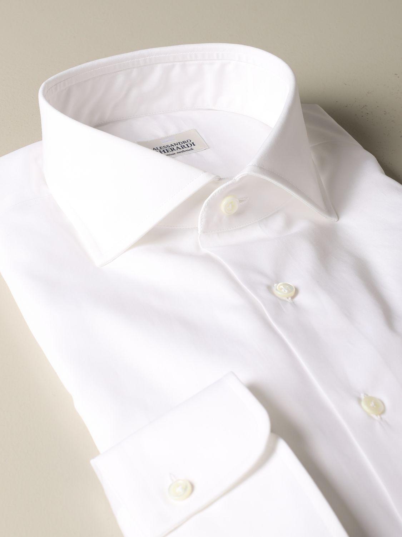 衬衫 Alessandro Gherardi: 衬衫 男士 Alessandro Gherardi 白色 1 2