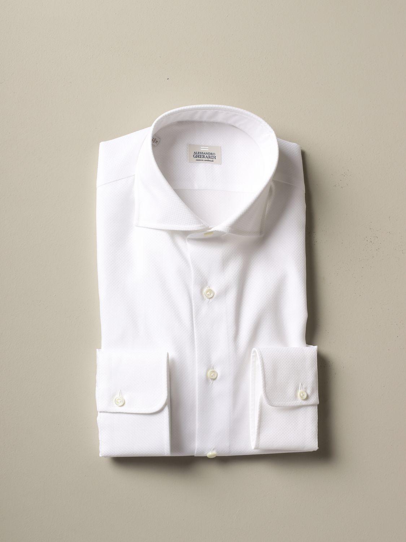 Shirt Alessandro Gherardi: Alessandro Gherardi regular fit shirt white 1
