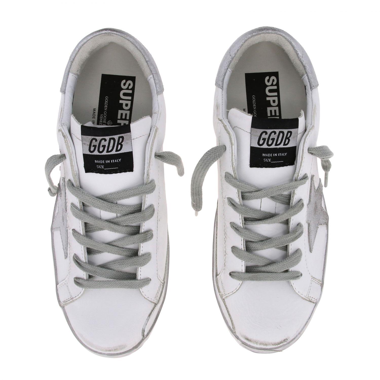Golden Goose Superstar Sneakers aus Leder mit Stern weiß 3