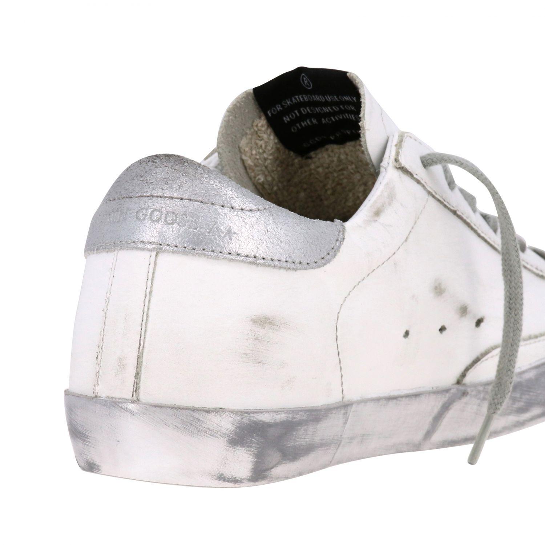 Golden Goose Superstar Sneakers aus Leder mit Stern weiß 5
