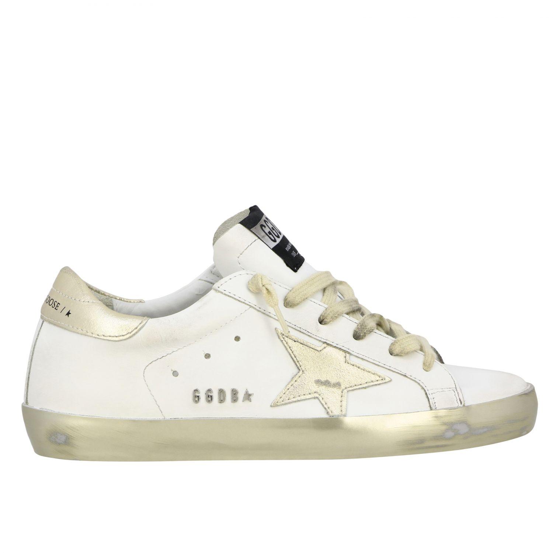 Golden Goose Superstar Sneakers aus Leder mit Stern weiß 1
