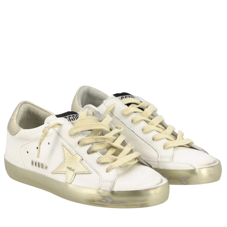 Golden Goose Superstar Sneakers aus Leder mit Stern weiß 2