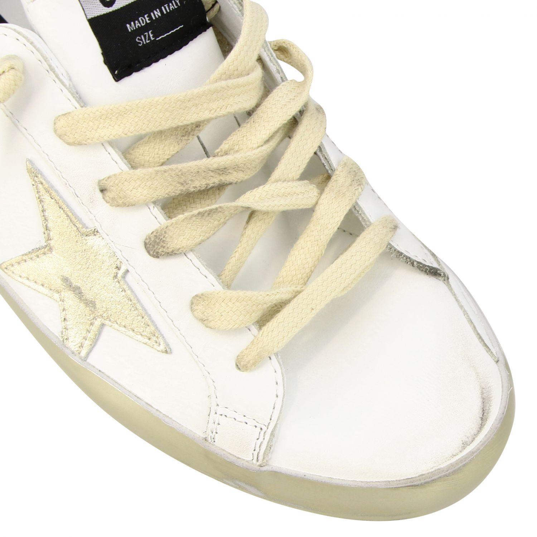 Golden Goose Superstar Sneakers aus Leder mit Stern weiß 4