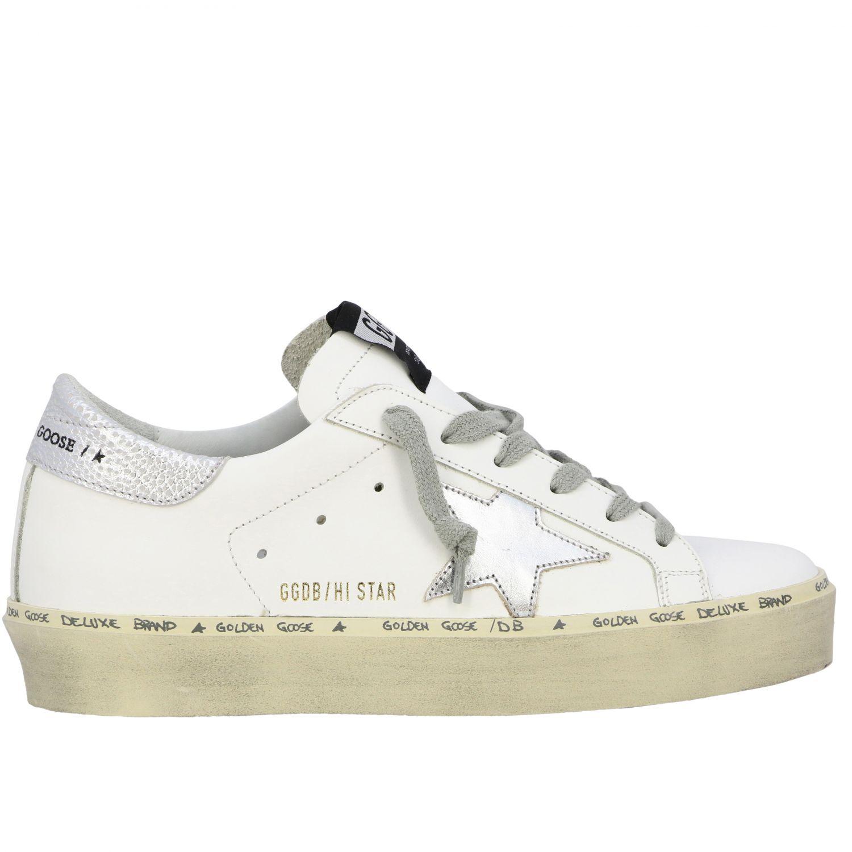 Sneakers Hi star Golden Goose in pelle con stella bianco 1