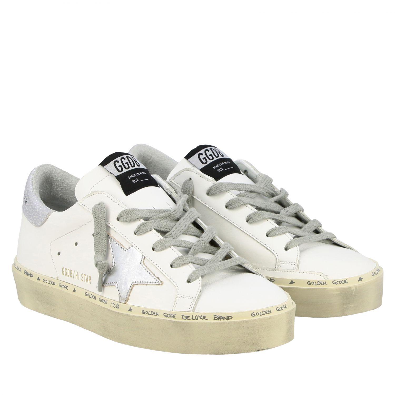 Sneakers Hi star Golden Goose in pelle con stella bianco 2