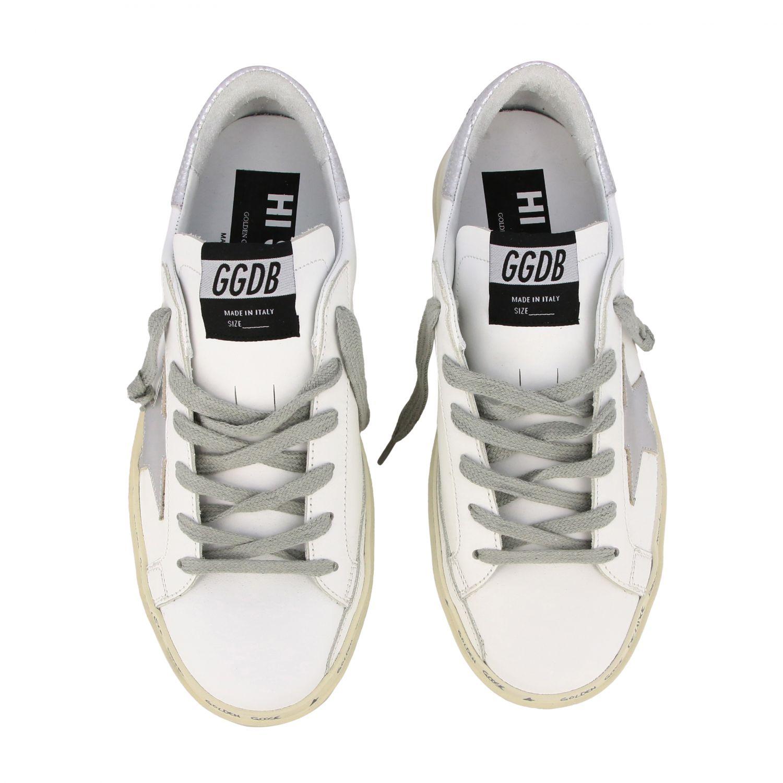 Sneakers Hi star Golden Goose in pelle con stella bianco 3