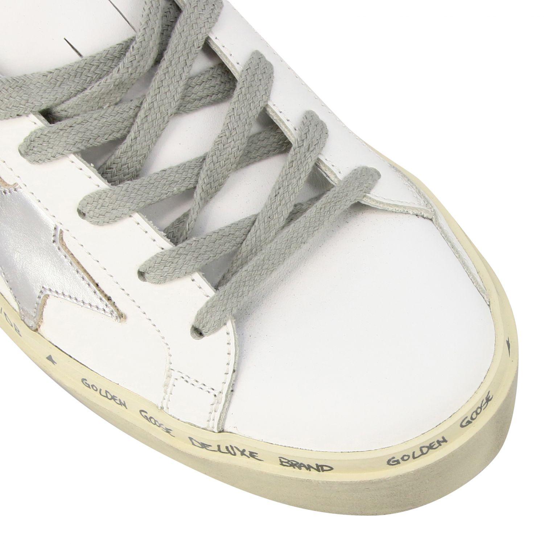 Sneakers Hi star Golden Goose in pelle con stella bianco 4