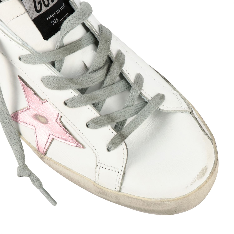 Sneakers Superstar Golden Goose in pelle con stella bianco 4