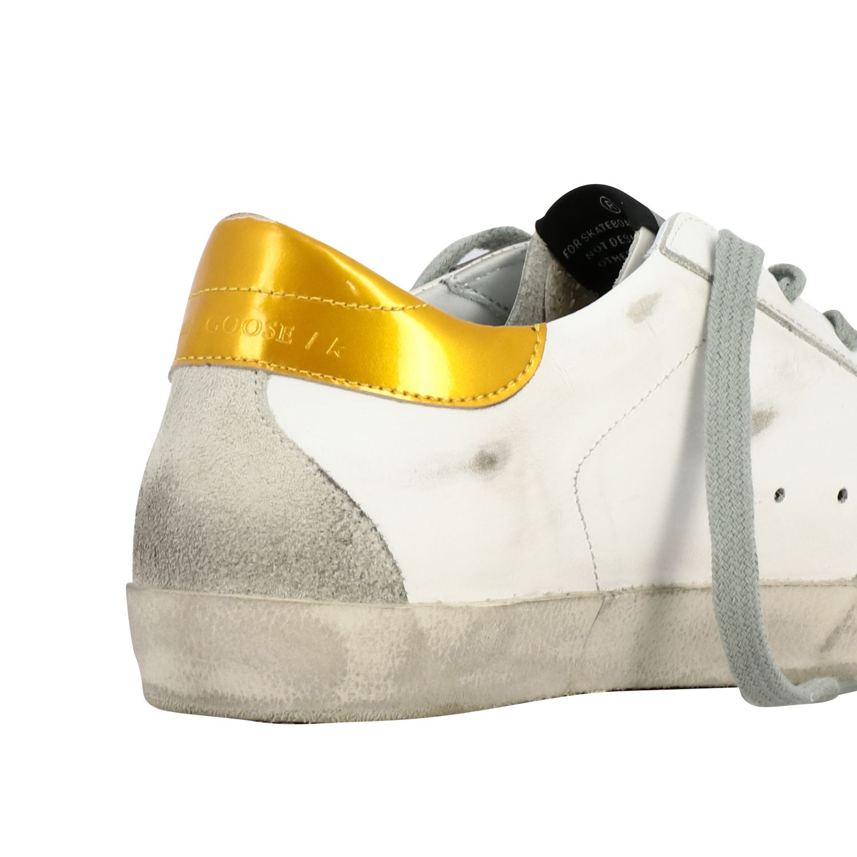 Sneakers Superstar Golden Goose in pelle con stella bianco 5