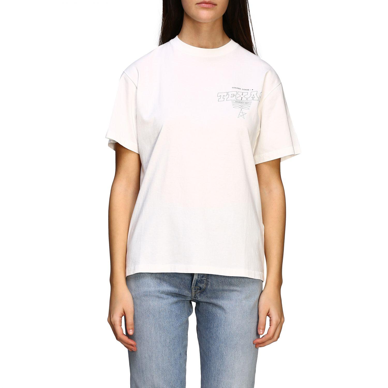 Golden Gosse T-Shirt mit Aufdruck am Rücken weiß 1