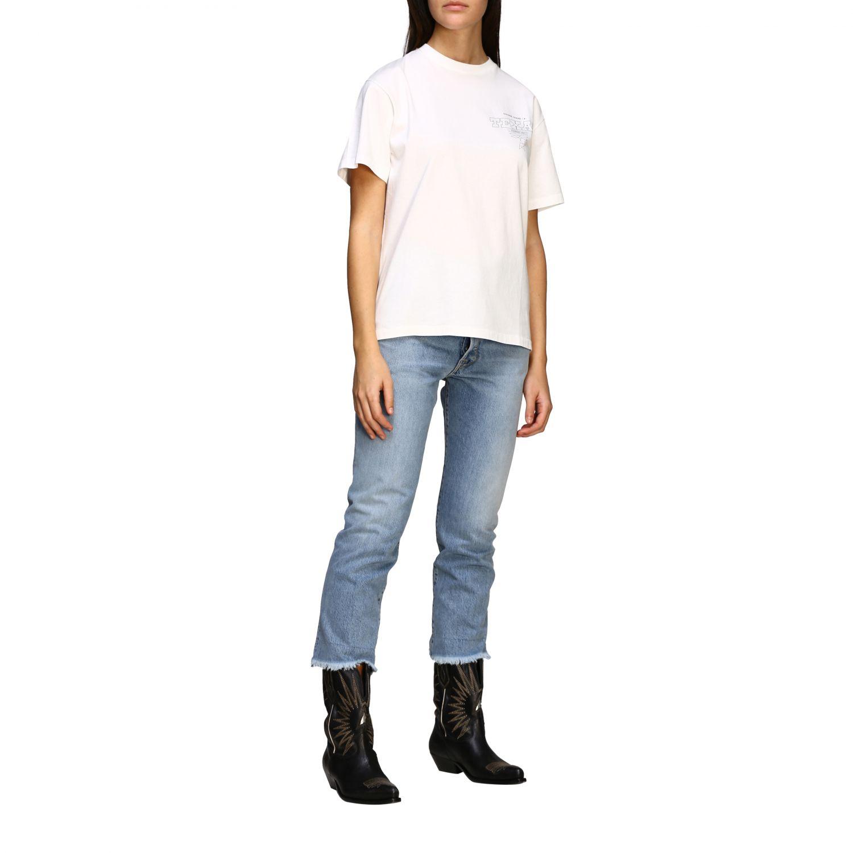 Golden Gosse T-Shirt mit Aufdruck am Rücken weiß 2