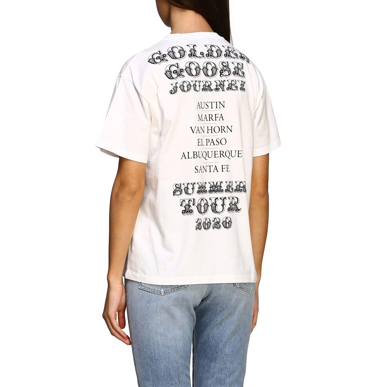 Golden Gosse T-Shirt mit Aufdruck am Rücken weiß 3