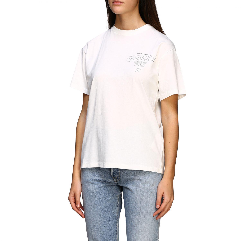 Golden Gosse T-Shirt mit Aufdruck am Rücken weiß 4