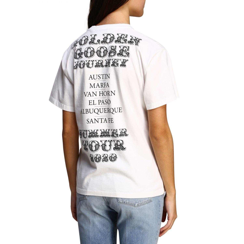 Golden Gosse T-Shirt mit Aufdruck am Rücken weiß 5