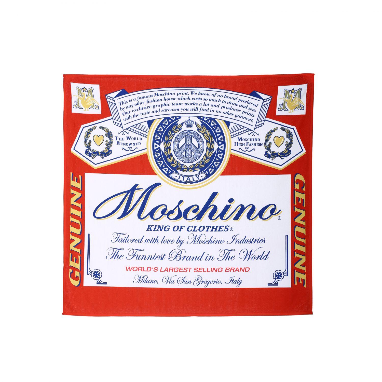 Telo da bagno Capsule Collection Moschino X Budweiser rosso 1