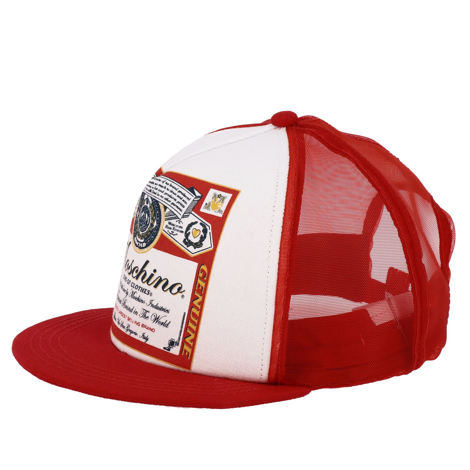 Cappello Capsule Collection Moschino X Budweiser rosso 1