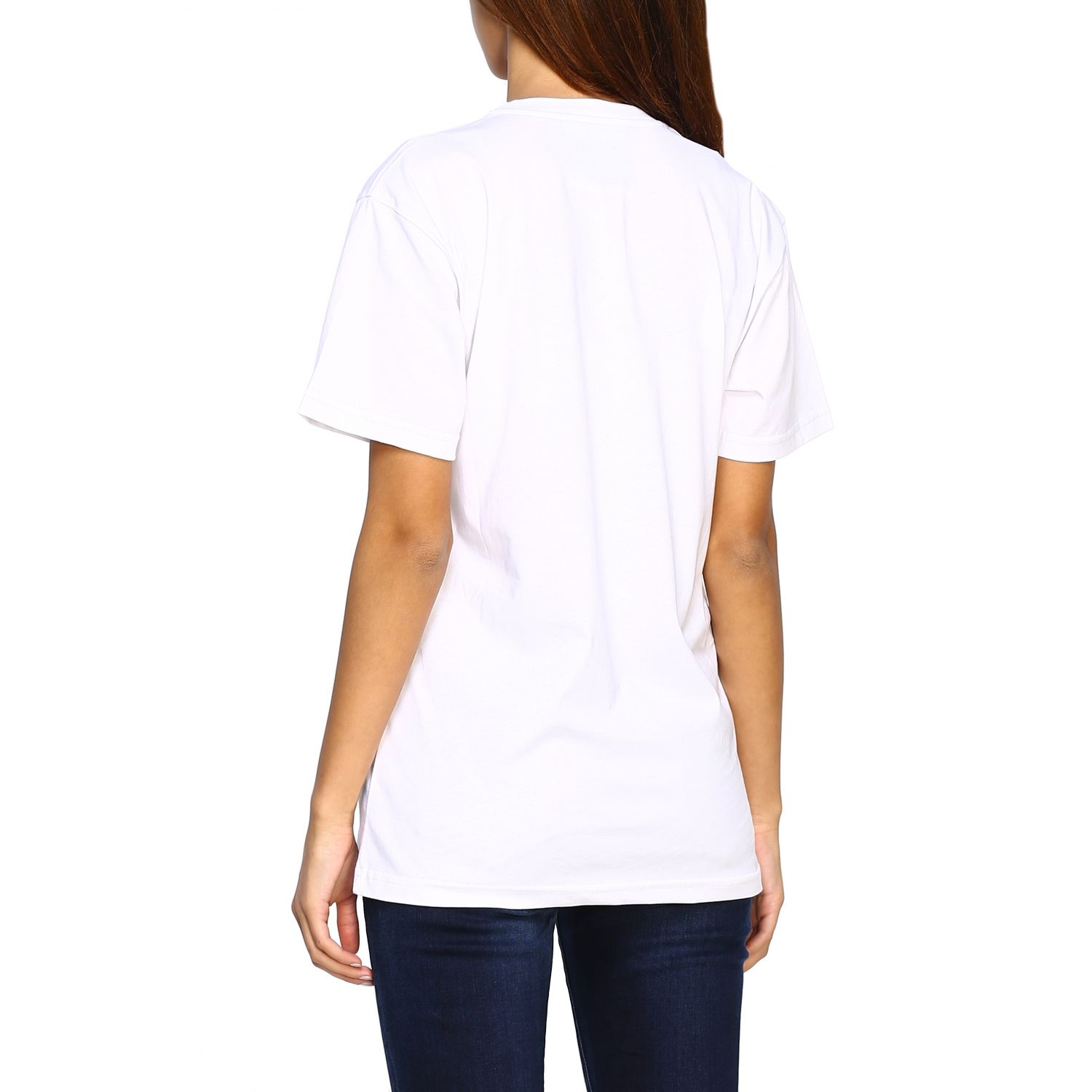 T-shirt Capsule Collection Moschino X Budweiser in jersey di cotone bianco 3