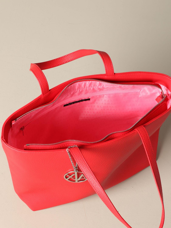 Shoulder bag women Armani Exchange coral 4