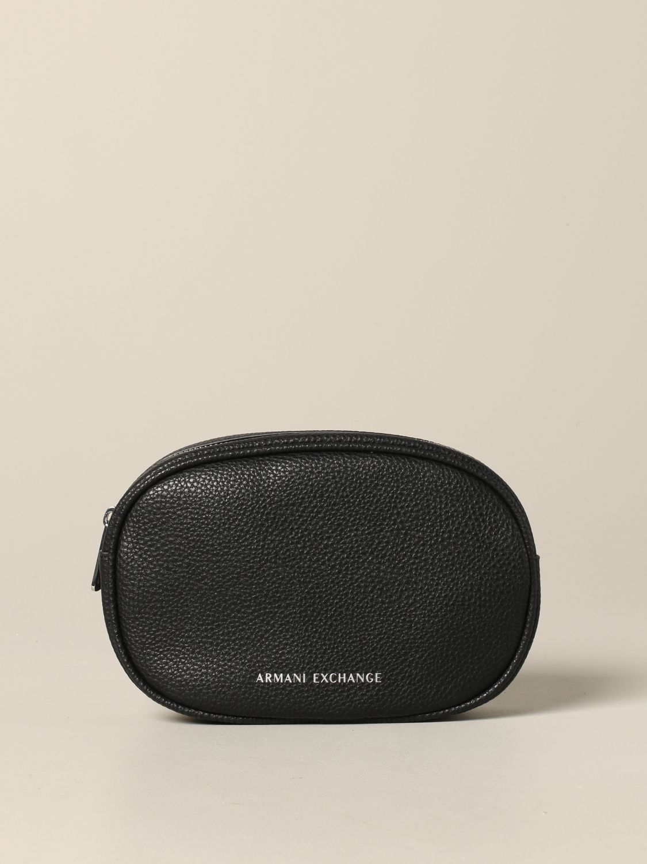 Armani Exchange belt bag in synthetic leather black 1