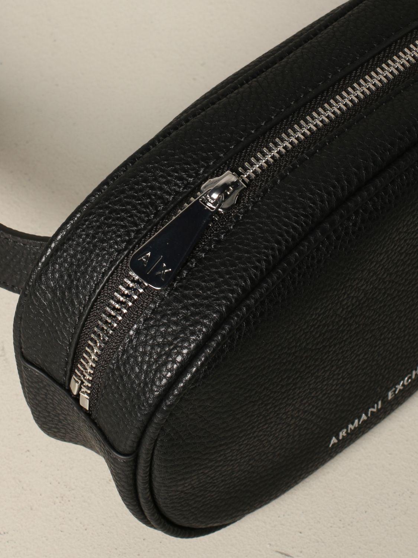 Armani Exchange belt bag in synthetic leather black 3