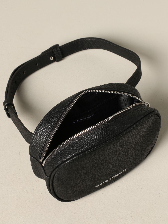 Armani Exchange belt bag in synthetic leather black 4