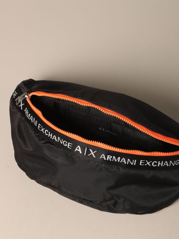 Sac banane Armani Exchange en nylon avec logo noir 4