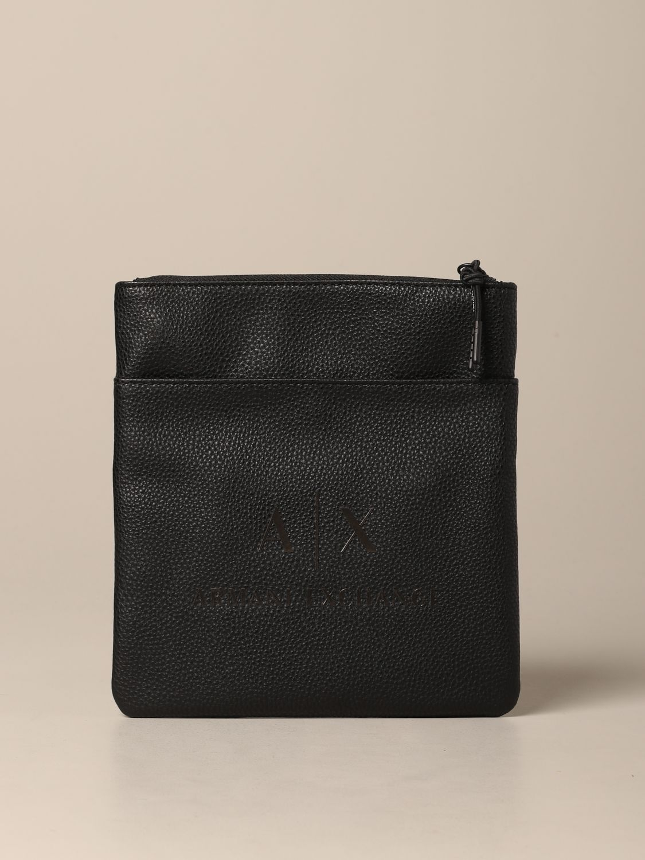 Borsello Armani Exchange in pelle sintetica con logo nero 1