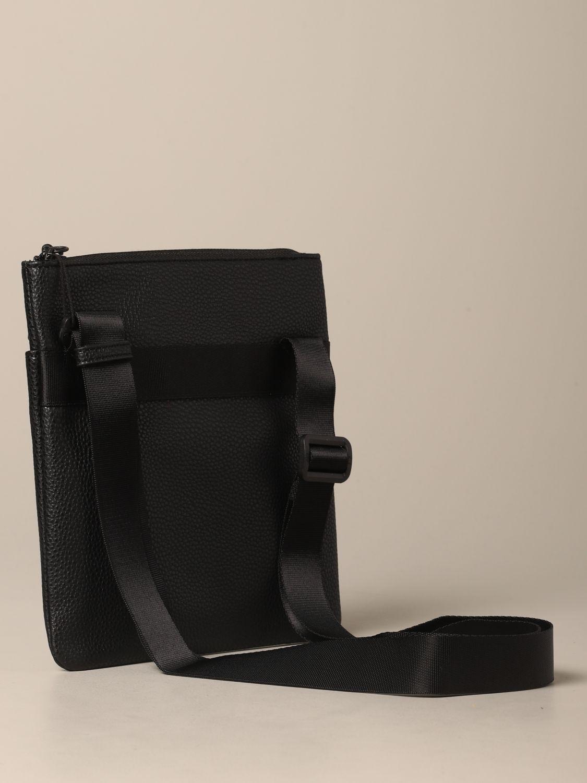 Borsello Armani Exchange in pelle sintetica con logo nero 2