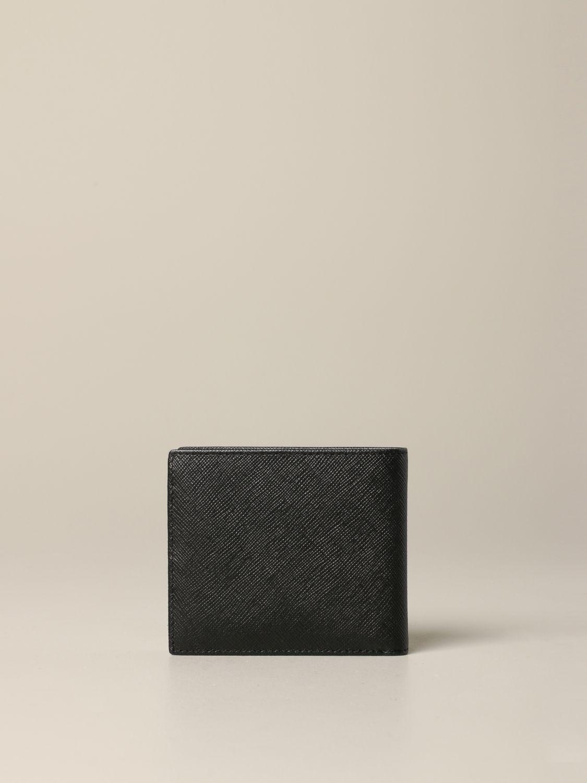 Portefeuille Armani Exchange en cuir synthétique saffiano noir 3