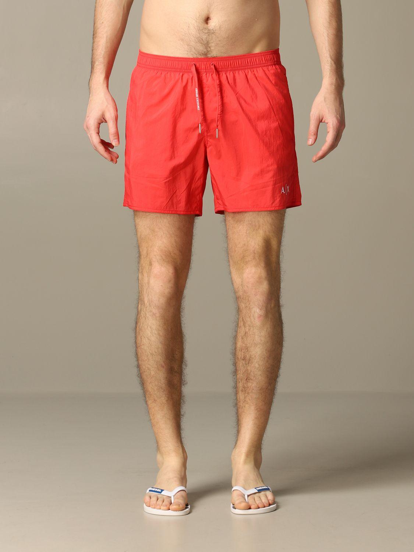 Swimsuit Armani Exchange: Armani Exchange boxer swimsuit coral 1