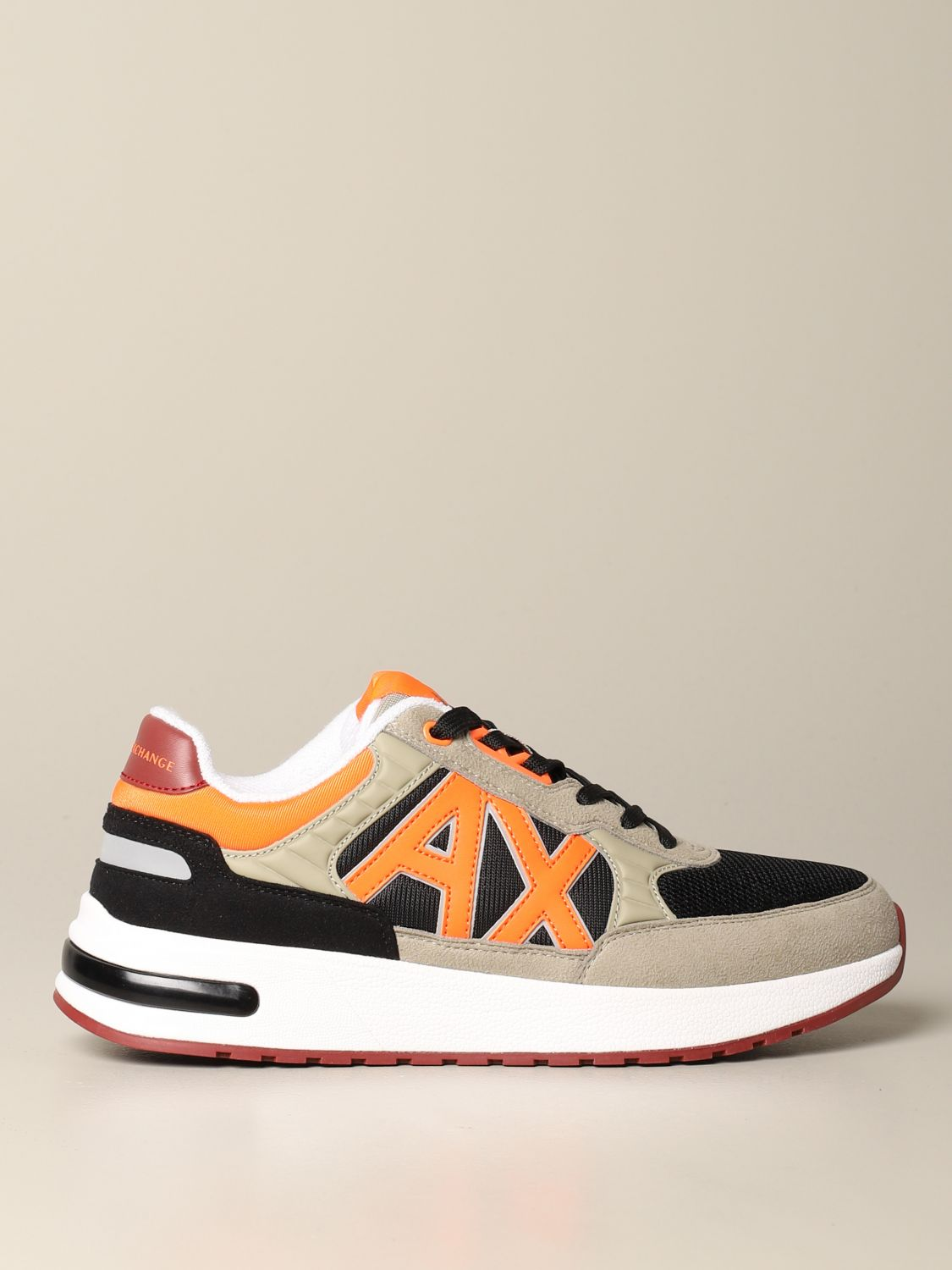 Sneakers Armani Exchange: Armani Exchange sneakers in suede and mesh with contrasts black 1