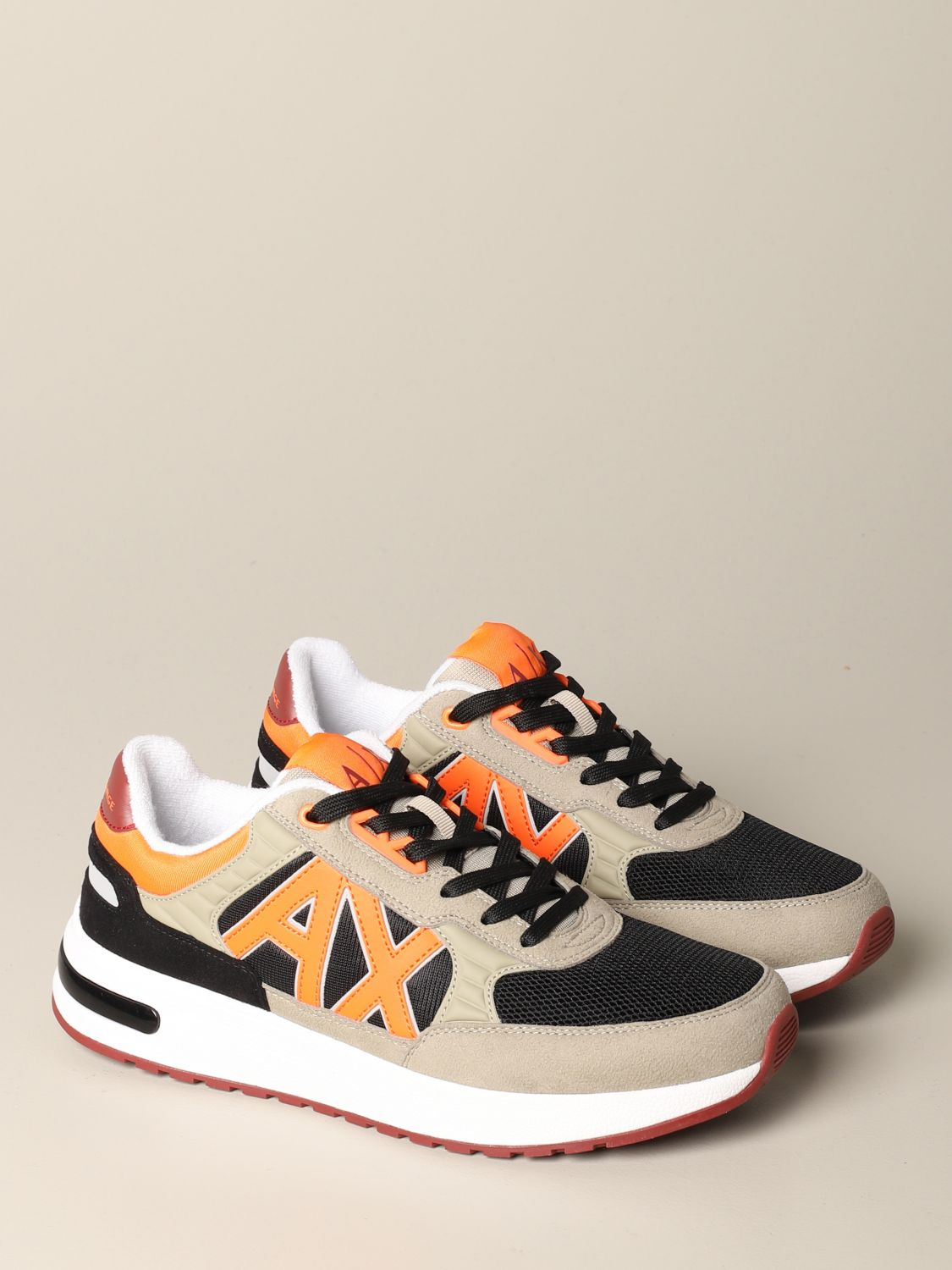 Sneakers Armani Exchange: Armani Exchange sneakers in suede and mesh with contrasts black 2