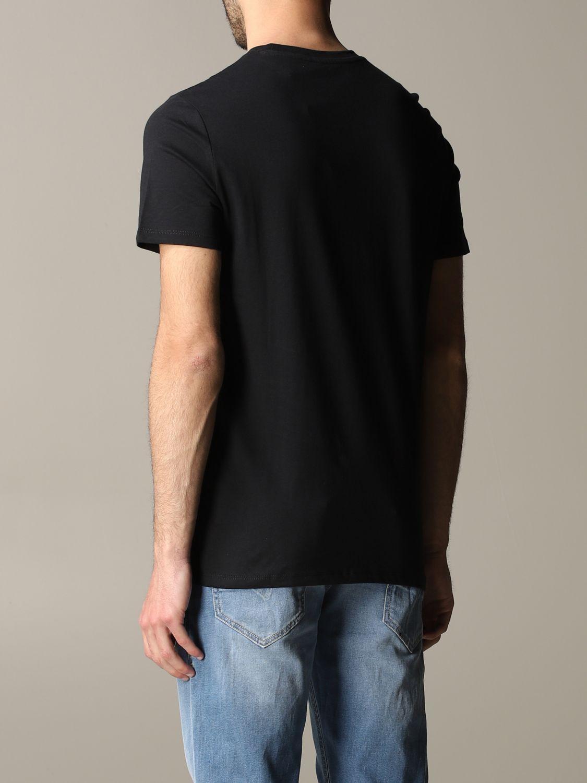 T-shirt à col rond Armani Exchange avec logo domino noir 3