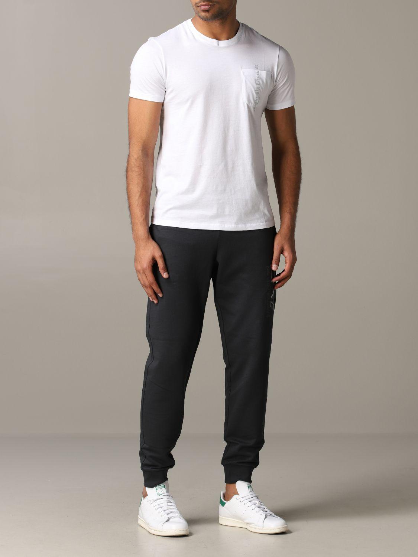 T-shirt col rond Armani Exchange avec logo et poche blanc 2