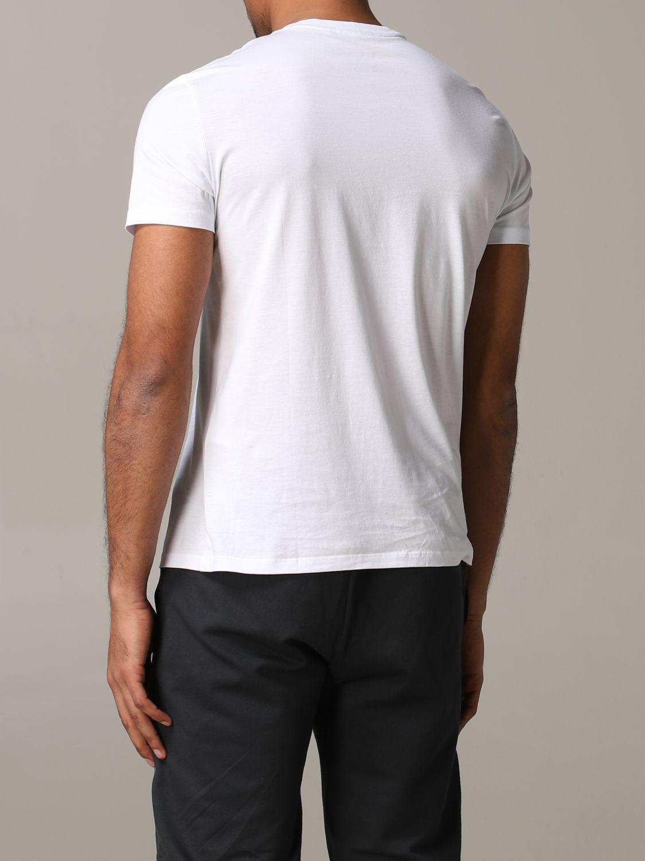 T-shirt col rond Armani Exchange avec logo et poche blanc 3