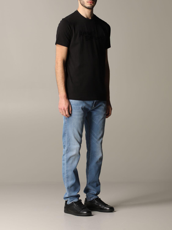 T-shirt Armani Exchange: Armani Exchange crew neck t-shirt with sequin logo black 2