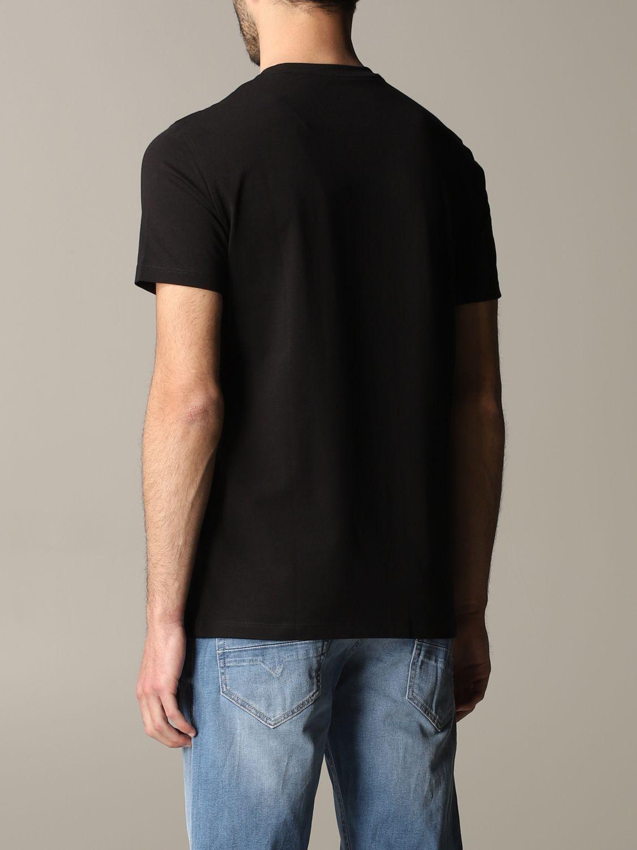 T-shirt Armani Exchange: Armani Exchange crew neck t-shirt with sequin logo black 3