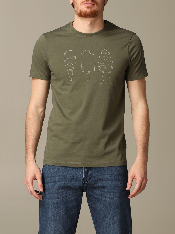 T-Shirt Armani Exchange: T-shirt herren Armani Exchange military 1