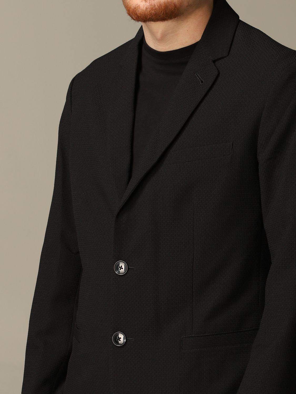 Blazer Armani Exchange: Armani Exchange single-breasted cotton jacket black 3