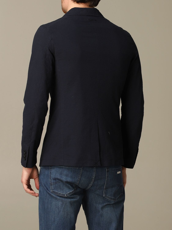 Blazer Armani Exchange: Armani Exchange jacket in textured cotton navy 2