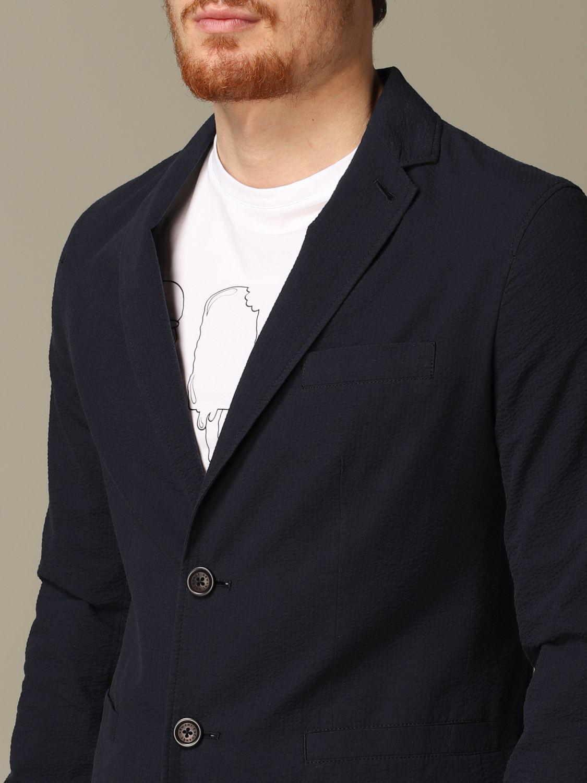 Blazer Armani Exchange: Armani Exchange jacket in textured cotton navy 3