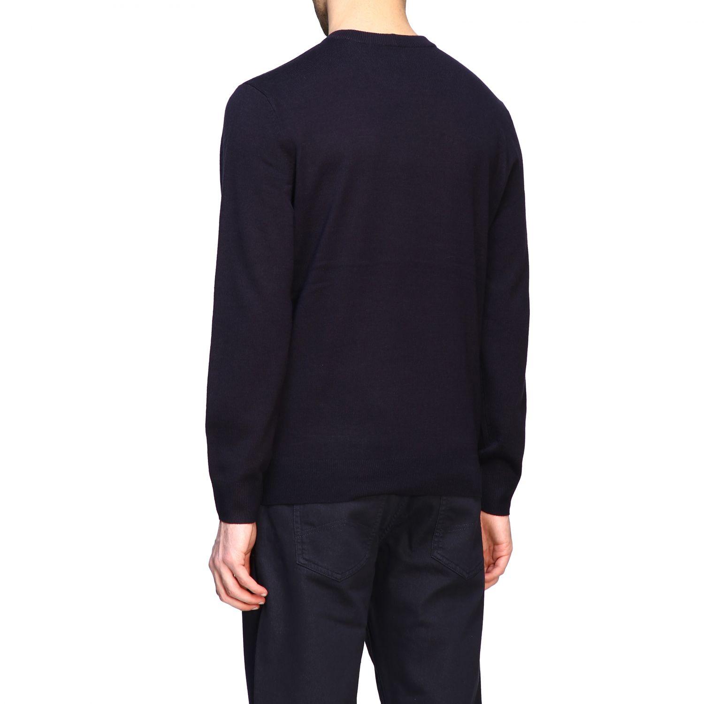 Sweater Armani Exchange: Armani Exchange crew neck sweater with big logo blue 3