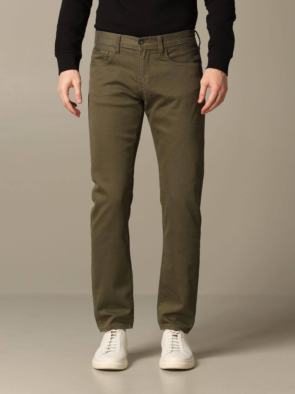 Hose Armani Exchange: Armani Exchange 5-Pocket-Hose aus schmalem Stretch-Gabardine military 1