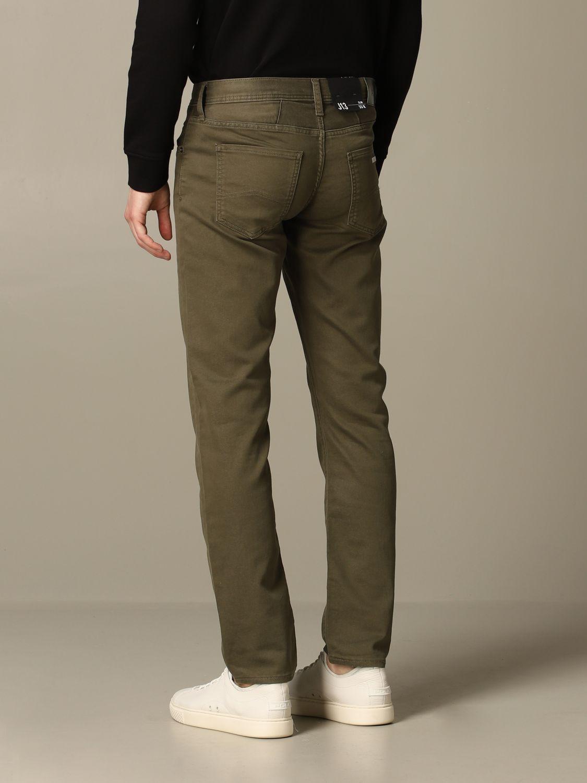 Hose Armani Exchange: Armani Exchange 5-Pocket-Hose aus schmalem Stretch-Gabardine military 2