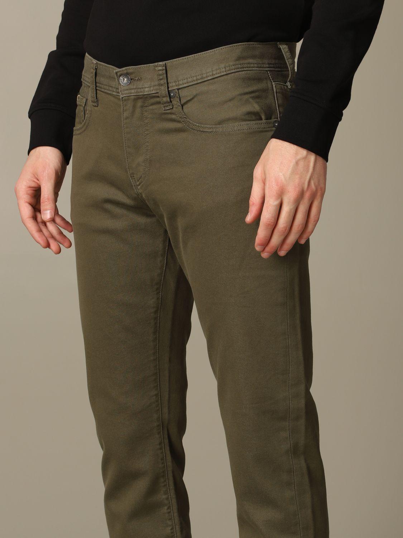 Hose Armani Exchange: Armani Exchange 5-Pocket-Hose aus schmalem Stretch-Gabardine military 3