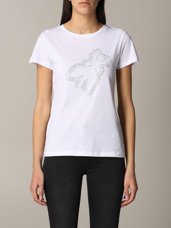 Patrizia Pepe T-Shirt mit Logo weiß 1