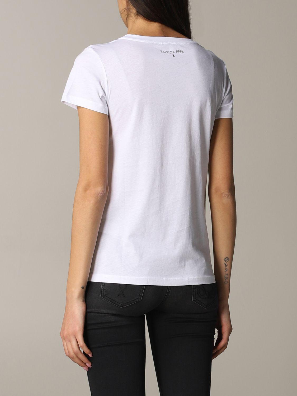 Patrizia Pepe T-Shirt mit Logo weiß 3